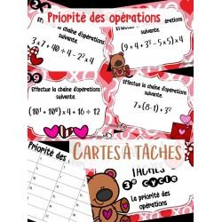 Cartes à tâches - Priorité des opérations