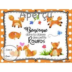 Affiche de bienvenue - Thème renard