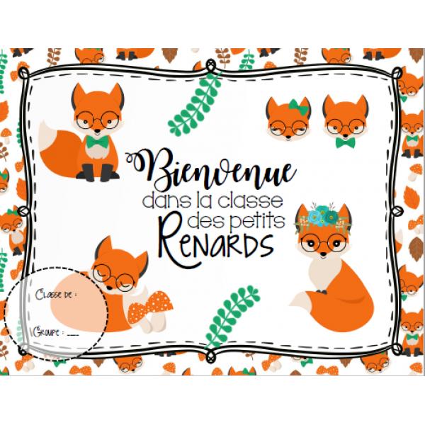 Affiche de bienvenue - Thème renard #2
