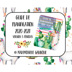 Guide de planification 2020-2021 - Lama - 5P