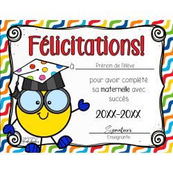Diplôme - Graduation maternelle