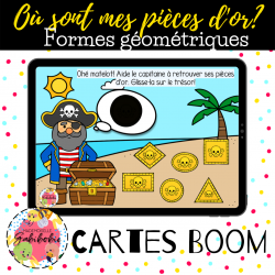 Formes - Pirates - Boom cards