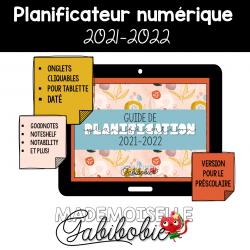 Planificateur NUMÉRIQUE - Préscolaire 2021-2022