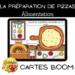 Préparation de pizzas - Boom cards