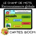 Le champ de mots - Boom cards