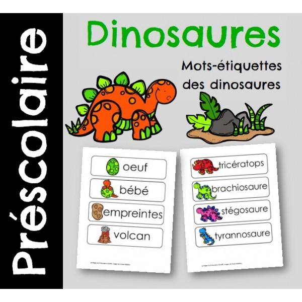 Mots-étiquettes des dinosaures