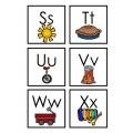Carte de l'alphabet - version couleur