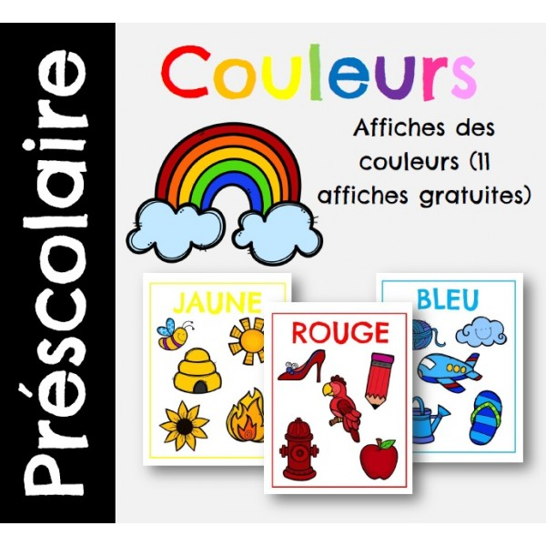 11 Affiches des couleurs