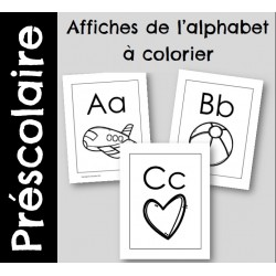Affiches alphabet à colorier