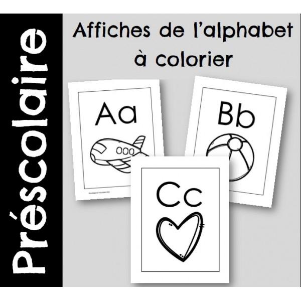 Affiches alphabet à colorier