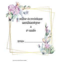 Cahier de problèmes mathématique 2e année