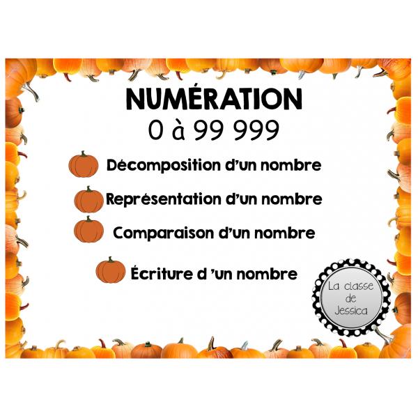 Numération 0-99 999