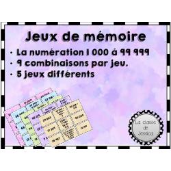 Jeux de mémoire numération