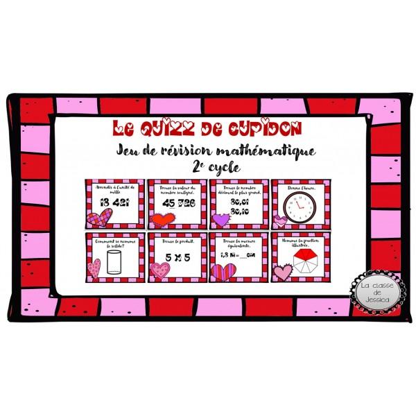 le quizz de cupidon (révision mathématique)