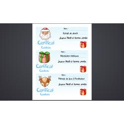Certificats cadeau Noël