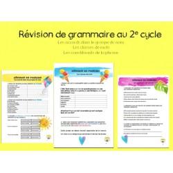 Révision de grammaire 2e cycle