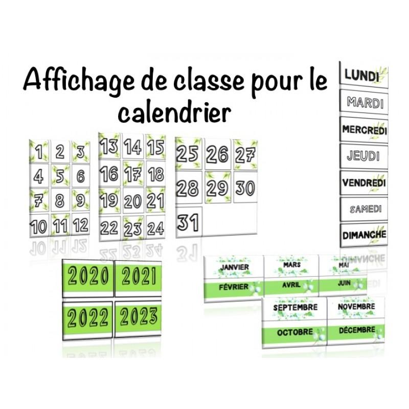 affichage de classe calendrier
