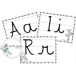 Frise - Alphabet lettres cursives