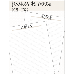 Feuille de notes