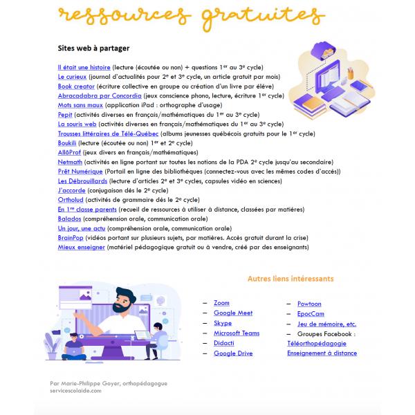 Banque de ressources gratuites en ligne