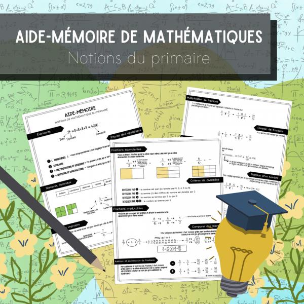 Aide-mémoire notions de mathématiques au primaire