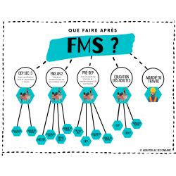 """Affiche """"Que faire après FMS ?"""""""