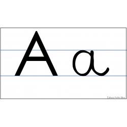 alphabet mural cursif