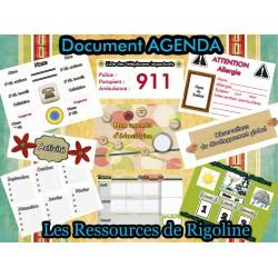 Agenda, pour RSG, Éducatrice