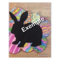 Le lapin de Pâques (bricolage Pâques)