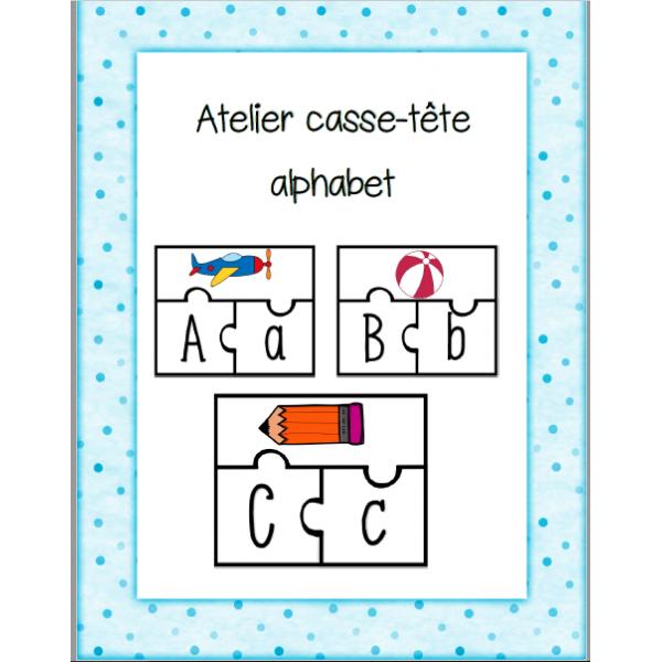 Atelier casse-tête de l'alphabet
