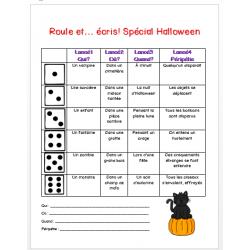 roule et écris, spécial Halloween