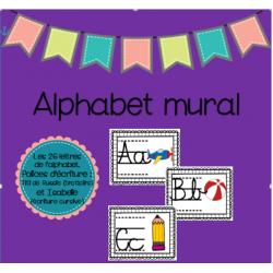 Alphabet mural (écriture cursive)