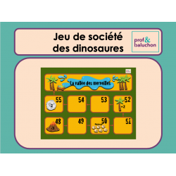 Jeu de société des dinosaures