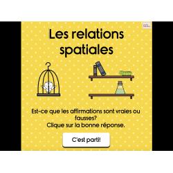 Les relations spatiales (jeu interactif)