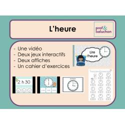 Lire l'heure (vidéo, jeux interactifs et +)