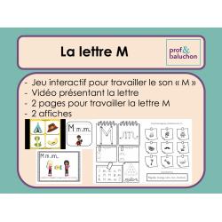 La lettre M (vidéo, jeu interactif et +)