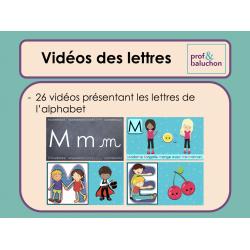 Les lettres (26 vidéos)