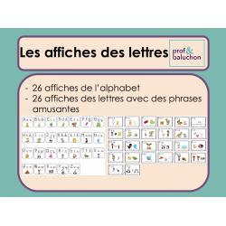 Affiches de l'alphabet (2 séries)