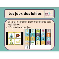 Les lettres : 21 jeux interactifs
