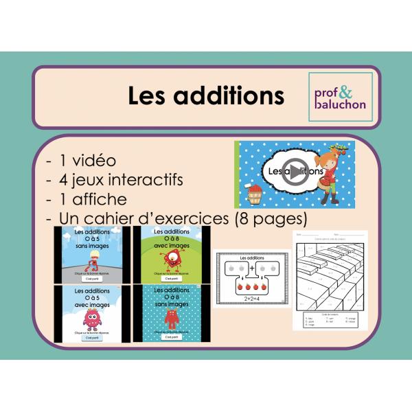 Les additions simples (vidéo, jeux et +)