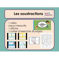 Soustractions simples (vidéo, jeux et +)