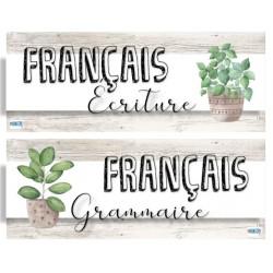 Affiches menu du jour - Bois blanc et cactus