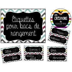 Organisation - Étiquettes - Bacs de rangement
