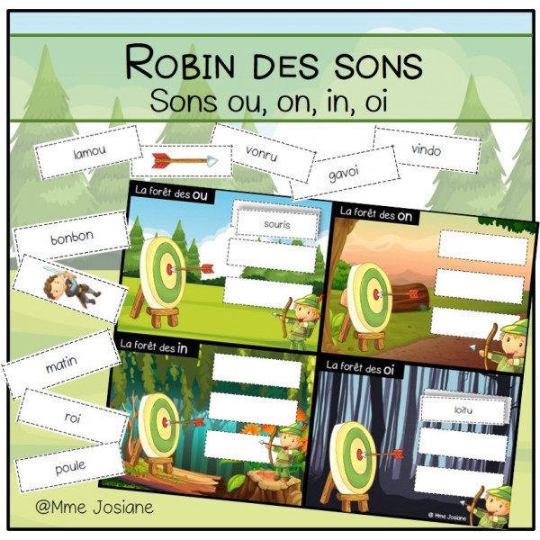 Robin des sons - sons composés ou, on, in, oi