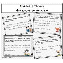 Cartes à tâches - Marqueurs de relation