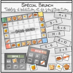Spécial brunch: tables d'addition/soustraction