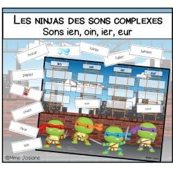 Les Ninjas des sons complexes-sons ien,oin,ier,eur