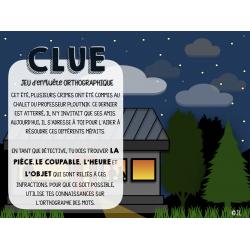 CLUE-Jeu d'enquête orthographique