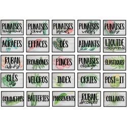 Étiquettes pour boite à tiroirs