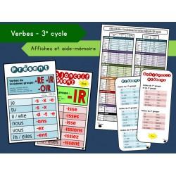 Affiches et aide-mémoire – Verbes (3e cycle) (lot)